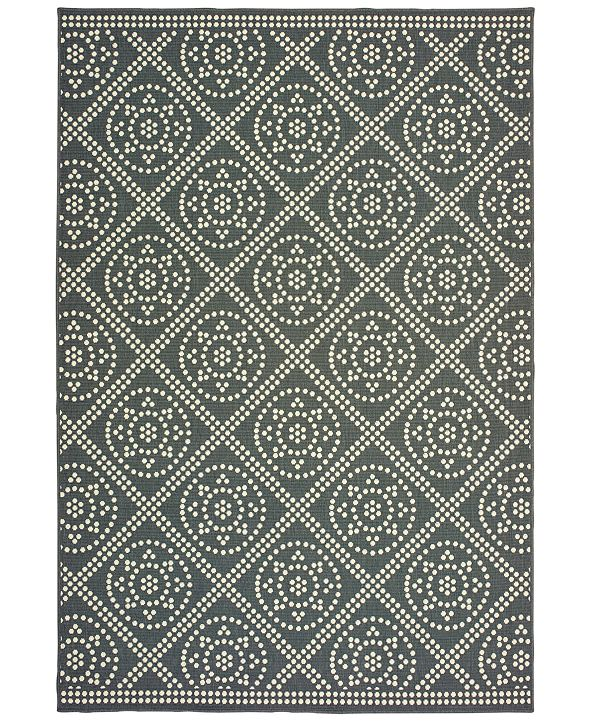 "Oriental Weavers Marina 3969L Gray/Ivory 5'3"" x 7'6"" Indoor/Outdoor Area Rug"