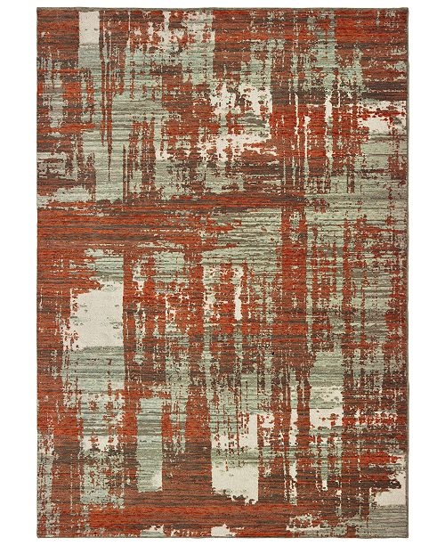 "Oriental Weavers Montage 5990Z Grey/Rust 9'10"" x 12'10"" Area Rug"