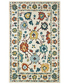 Zahra 75507 Ivory/Gold 5' x 8' Area Rug