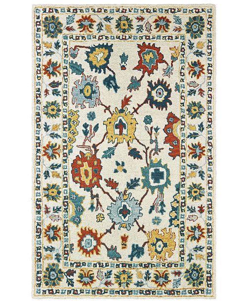 "Oriental Weavers Zahra 75507 Ivory/Gold 3'6"" x 5'6"" Area Rug"