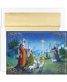 Shepherd's Watch Holiday Boxed Cards, 18 Cards and 18 Foil Lined Envelopes