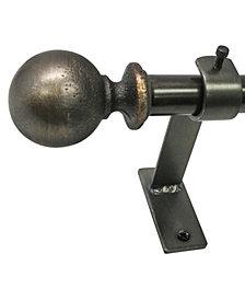 Decopolitan 1-Inch Vintage Ball Telescoping Rod Set, 66-120-Inch, Antique Brass
