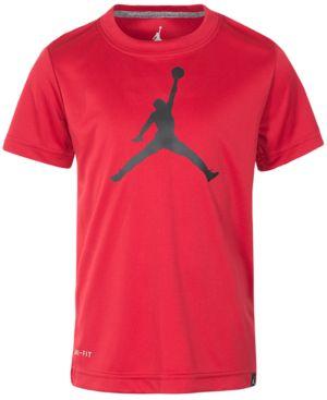 JORDAN   Jordan Big Boys Jumpman Logo-Print T-Shirt   Goxip