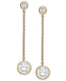 Crystal Linear Drop Earrings, Created for Macy's