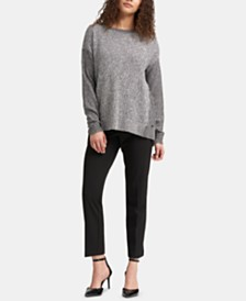 DKNY Step-Hem Sweater