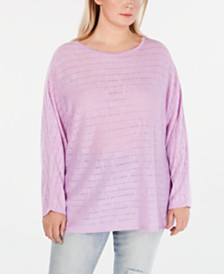 Style & Co Plus Size Dolman-Sleeve Sweater, Created for Macy's