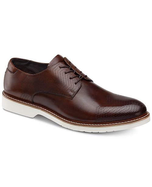 Johnston & Murphy Men's Atwell Textured Oxfords, Created for Macy's