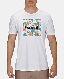 Hurley Men's Floral-Print Logo T-Shirt