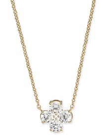 "Eliot Danori Crystal Pendant Necklace, 16"" + 1"" extender, Created for Macy's"