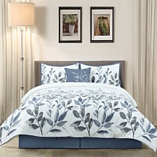 Krista 5Pc Comforter Set Blue Queen