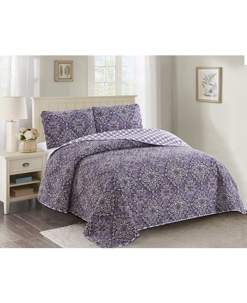 Welcome Industrial Isabelle 3 Piece Quilt Set King