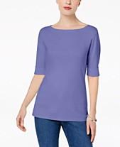 624ffbbd75d0a3 Karen Scott Cotton Elbow-Sleeve Top, Created for Macy's