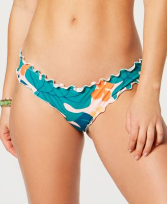 Tropicali Printed Ruffled Bikini Bottoms, Created For Macy's