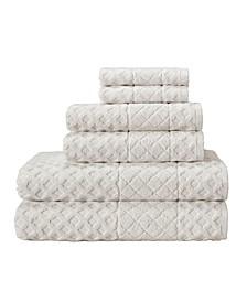 Glossy 6-Pc. Turkish Cotton Towel Set