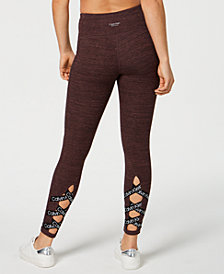 Calvin Klein Performance Space-Dyed Crisscross Calf Leggings