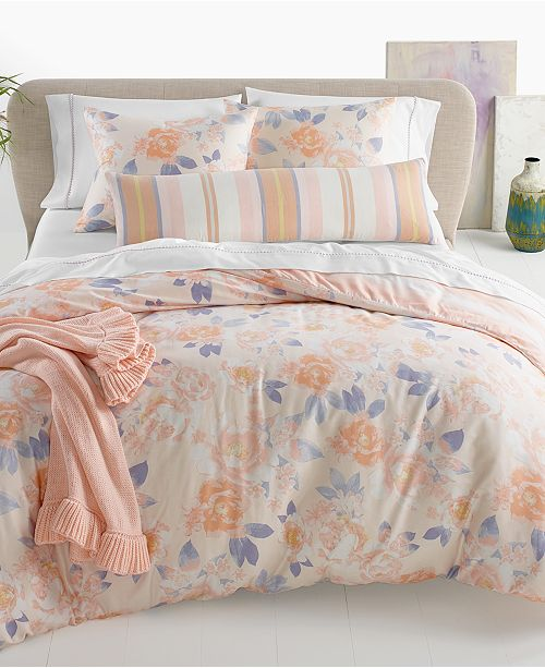 Martha Stewart Collection Exposed Floral Bedding Collection, Created for Macy's