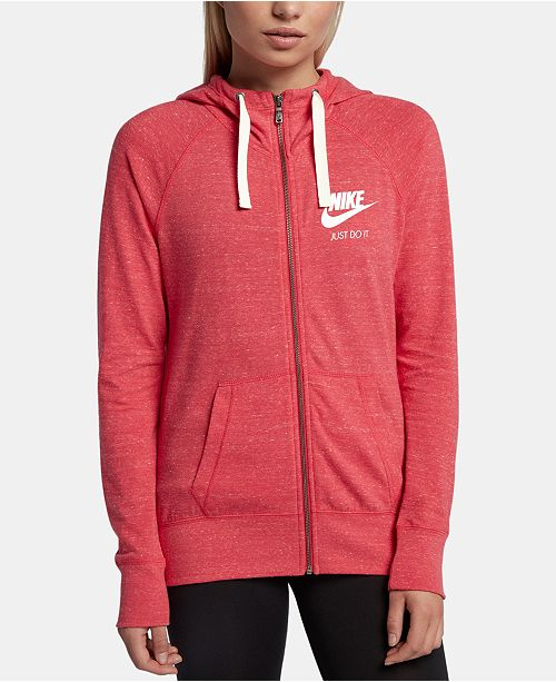 8bd29c3a6f60c Nike Gym Vintage Full-Zip Hoodie   Reviews - Tops - Women - Macy s