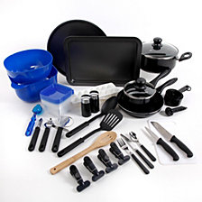 Gibson Home 59-piece Total Kitchen Aluminum Cookware Combination Set