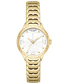 kate spade new york Women's Scallop Gold-Tone Stainless Steel Bracelet Watch 32mm