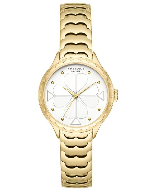 kate spade new york Women's Scallop Gold-Tone Stainless Steel Bracelet Watch 32mm