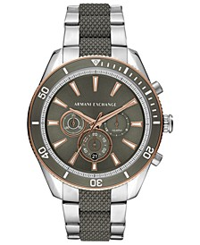 Men's Chronograph Enzo Two-Tone Stainless Steel Bracelet Watch 46mm
