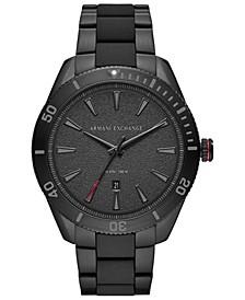 Men's Enzo Black Stainless Steel Bracelet Watch 46mm