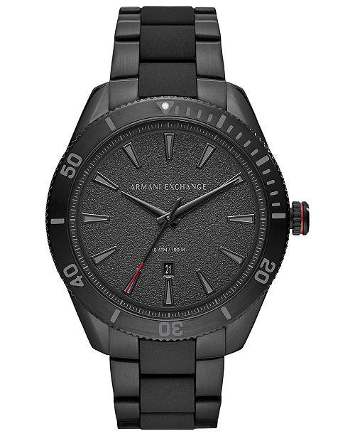 Armani Exchange A X Men's Enzo Black Stainless Steel Bracelet Watch 46mm