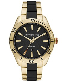 Men's Enzo Two-Tone Stainless Steel Bracelet Watch 46mm