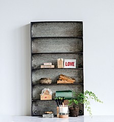 Metal 6-Tier Wall Shelf