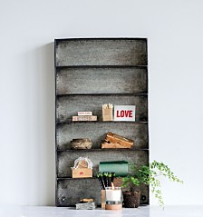 Metal 6-Tier Wall Shelf