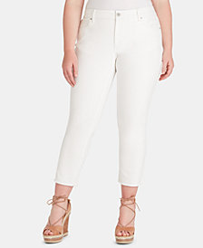 Jessica Simpson Juniors' Plus Size Straight-Leg Ankle Jeans