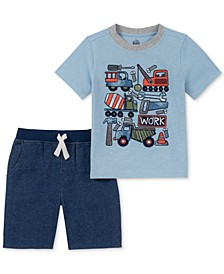 Toddler Boys 2-Pc. Trucks Graphic T-Shirt & Shorts Set