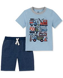 Kids Headquarters Little Boys 2-Pc. Trucks Graphic T-Shirt & Shorts Set