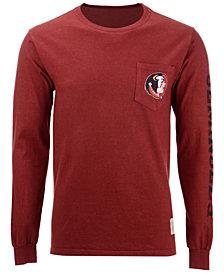 Retro Brand Men's Florida State Seminoles Heavy Weight Long Sleeve Pocket T-Shirt