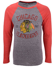 Majestic Men's Chicago Blackhawks Heritage Long Sleeve Raglan T-Shirt