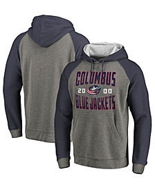Majestic Men's Columbus Blue Jackets Antique Tri-Blend Hoodie