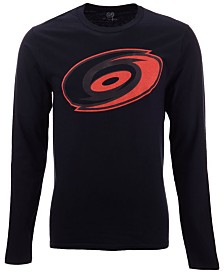 Authentic NHL Apparel Men's Carolina Hurricanes Blackout Long Sleeve T-Shirt