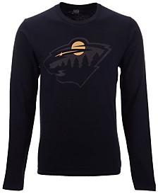 Authentic NHL Apparel Men's Minnesota Wild Blackout Long Sleeve T-Shirt