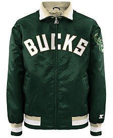 G-III Sports Men's Milwaukee Bucks Starter Captain II Satin Jacket