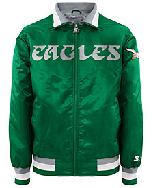 G-III Sports Men's Philadelphia Eagles Starter Captain II Satin Jacket