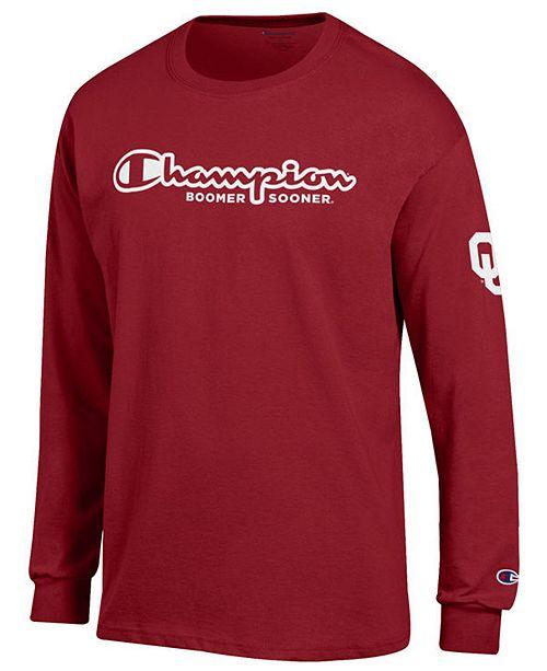 Champion Men's Oklahoma Sooners Co-Branded Long Sleeve T-Shirt