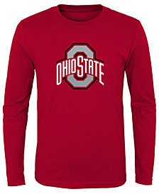 Outerstuff Ohio State Buckeyes Primary Logo Long Sleeve T-Shirt, Little Boys (4-7)