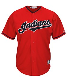 Majestic Men's Cleveland Indians Blank Replica Cool Base Jersey