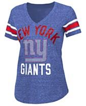 G-III Sports Women s New York Giants Sleeve Stripe Bling T-Shirt b896ec106