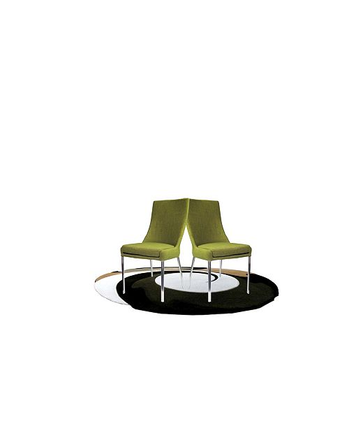 New Spec Inc New Spec Oliver Modern Upholstery Dining Chair Set of 2 Pieces