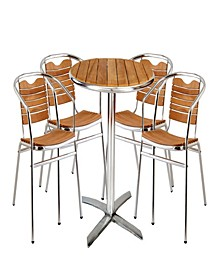 Outdoor Round Bistro Dining Set of 5 Pieces