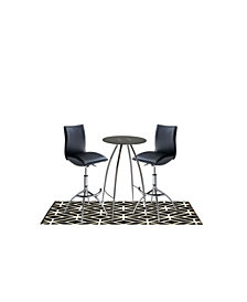 Pub and Bistro Table with Backless Stool, 3 Pieces