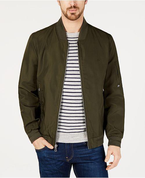 Calvin Klein Men's Flight Bomber Jacket & Reviews Coats