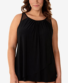 Miraclesuit Plus Size Mariella Tankini Top