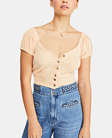 Free People Brighter Days V-Neck Top